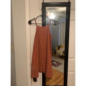 Box dress with pockets